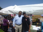 Councilman Mike Stevens and Event Organizer D'Artagnan Scorza