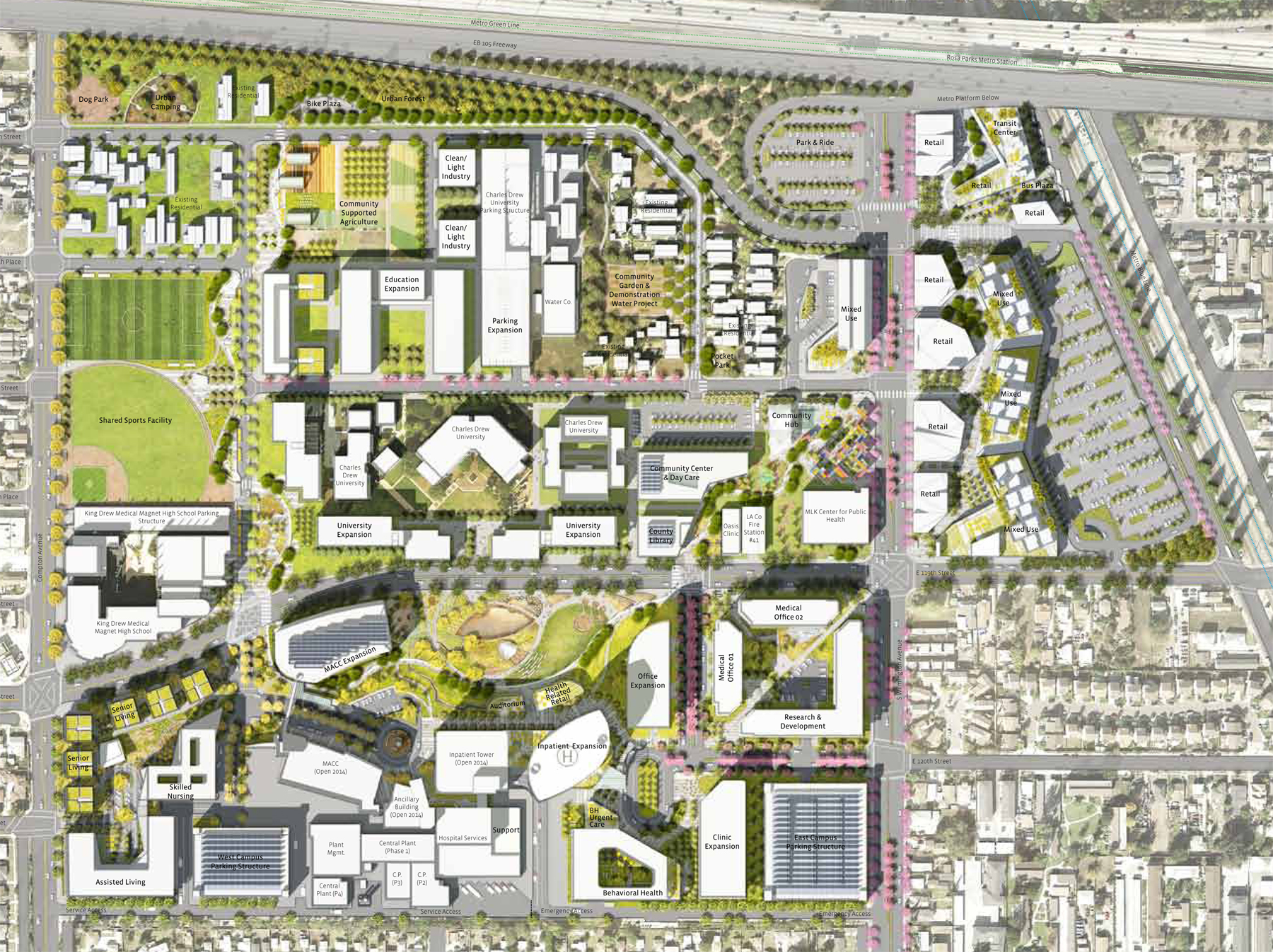 Martin Luther King Jr Hospital Campus Community Master Plan SouthLA